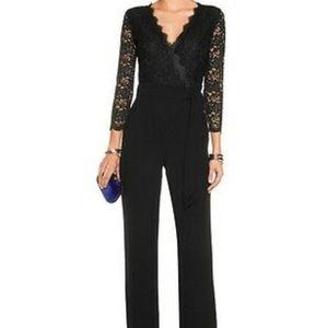 Diane von Furstenberg Lace Jumpsuit (Size 2/Small)
